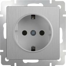 Розетка Cеребряный рифленый WL09-SKG-01-IP20